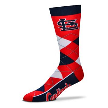 Adult For Bare Feet St. Louis Cardinals Argyle Line Up Crew Socks