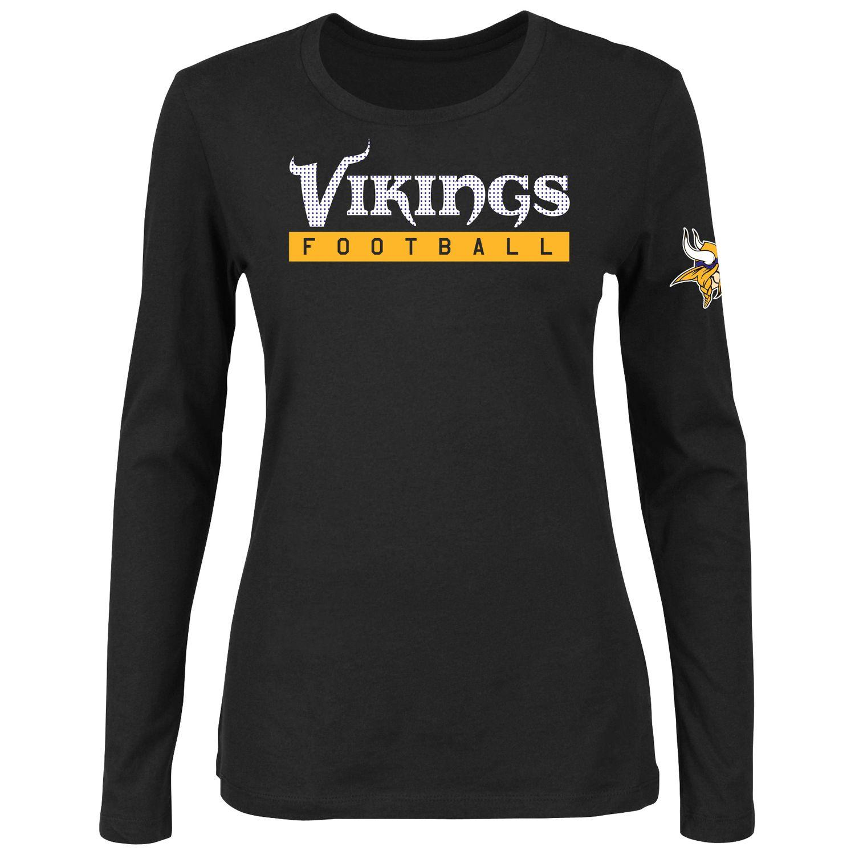 Womens Majestic Minnesota Vikings Never Let It Rest Tee