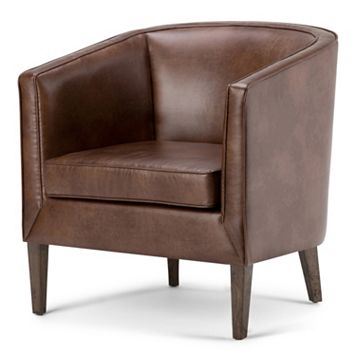 Simpli Home Mitchum Tub Arm Chair