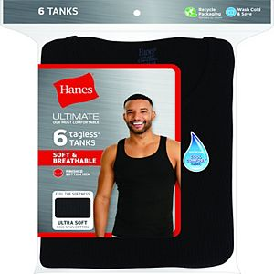 Men's Hanes 6-pack Ultimate Dyed A-Shirts