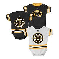 Baby Reebok Boston Bruins 3-Piece Jersey Bodysuit Set