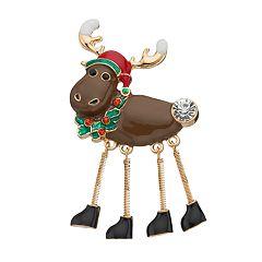Springy Legs Moose Pin