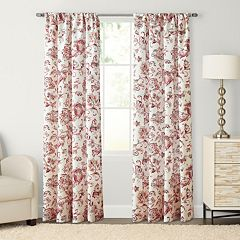 SONOMA Goods for Life™ 1-Panel Devonshire Print Pole Top Window Curtain