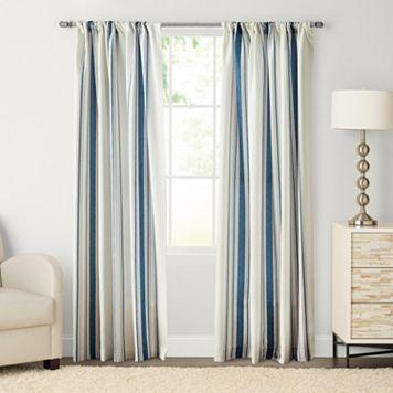 SONOMA Goods for Life™ Havana Stripe Pole Top Window Curtain