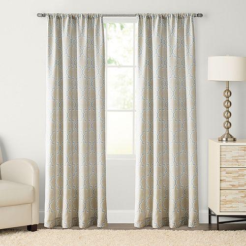 SONOMA Goods for Life™ Trellis Pole Top Window Curtain