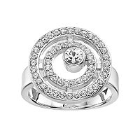 Simply Vera Vera Wang Concentric Circle Ring with Swarovski Crystals