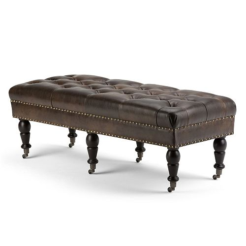 Simpli Home Henley Tufted Bench