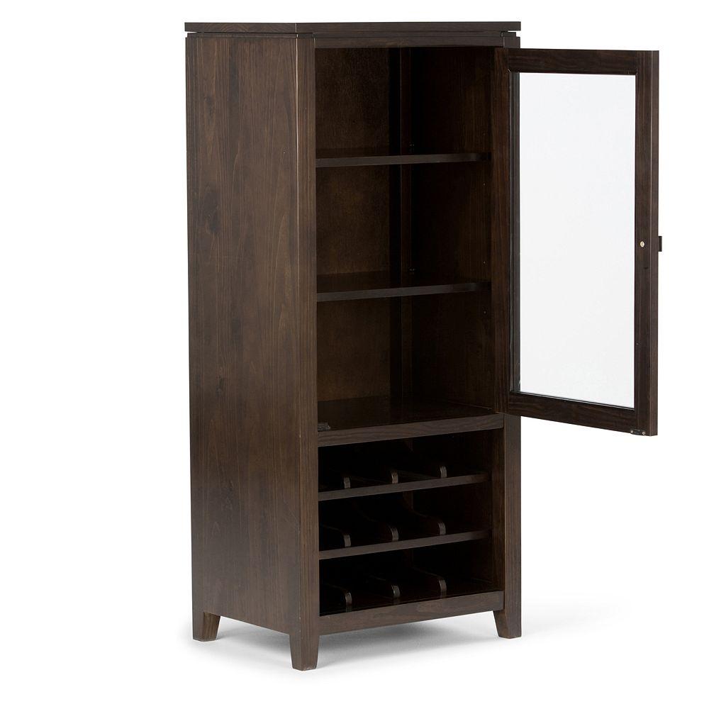 Simpli Home Cosmopolitan Wine Rack Storage Cabinet