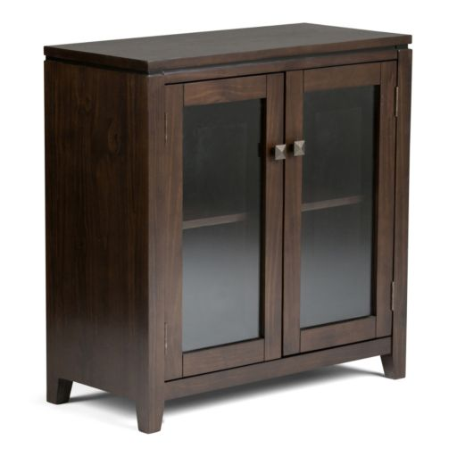Simpli Home Cosmopolitan Low Storage Cabinet