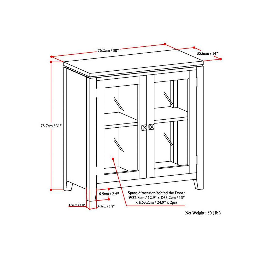 Simpli Home Cosmopolitan Low Storage Cabinet