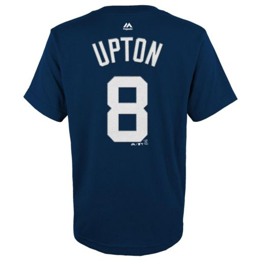 Boys 8-20 Majestic Detroit Tigers Justin Upton Player Name and Number Tee