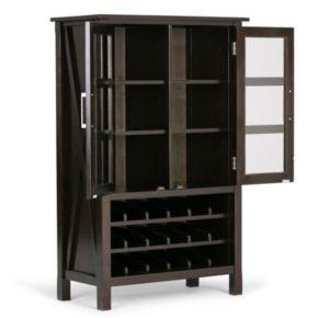 Simpli Home Kitchener Wine Rack Storage Cabinet