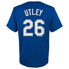 Boys 8-20 Majestic Los Angeles Dodgers Chase Utley Player Name and Number Tee
