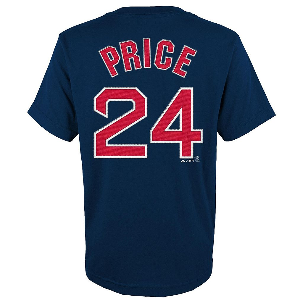 Boys 8-20 Majestic Boston Red Sox David Price Player Name and Number Tee