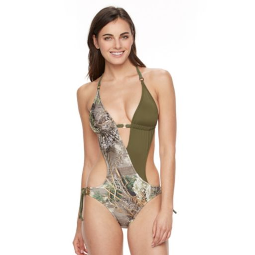 Juniors' Realtree Camouflage Monokini Swimsuit