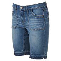 Juniors' Mudd® FLX Stretch Release Hem Bermuda Shorts