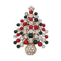 Simulated Aurora Borealis Christmas Tree Pin