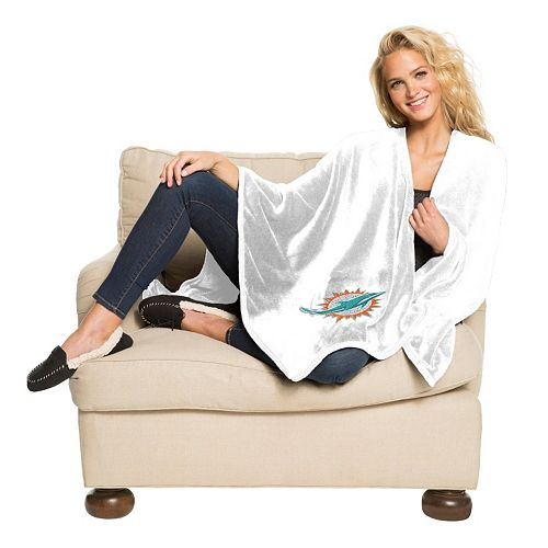 Miami Dolphins Silk-Touch Throw Blanket by Northwest