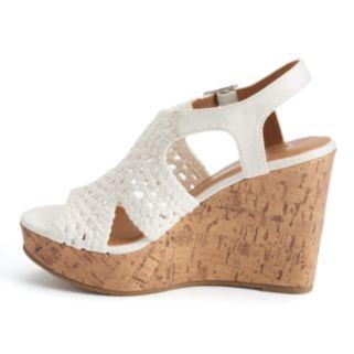 SO® Women's Woven Wedge Sandals