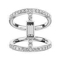 Simply Vera Vera Wang Double Row Ring with Swarovski Crystals