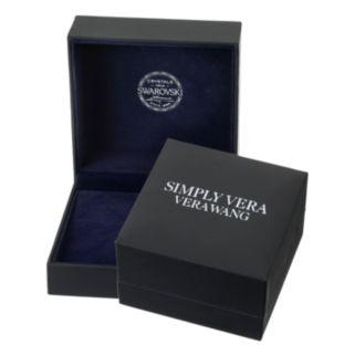 Simply Vera Vera Wang Disc Ring with Swarovski Crystals