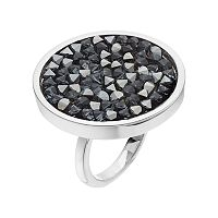 Simply Vera Vera Wang Disc Ring with Swarovski Crystals