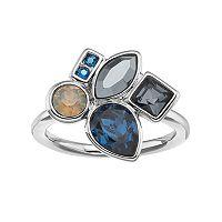 Simply Vera Vera Wang Cluster Ring with Swarovski Crystals