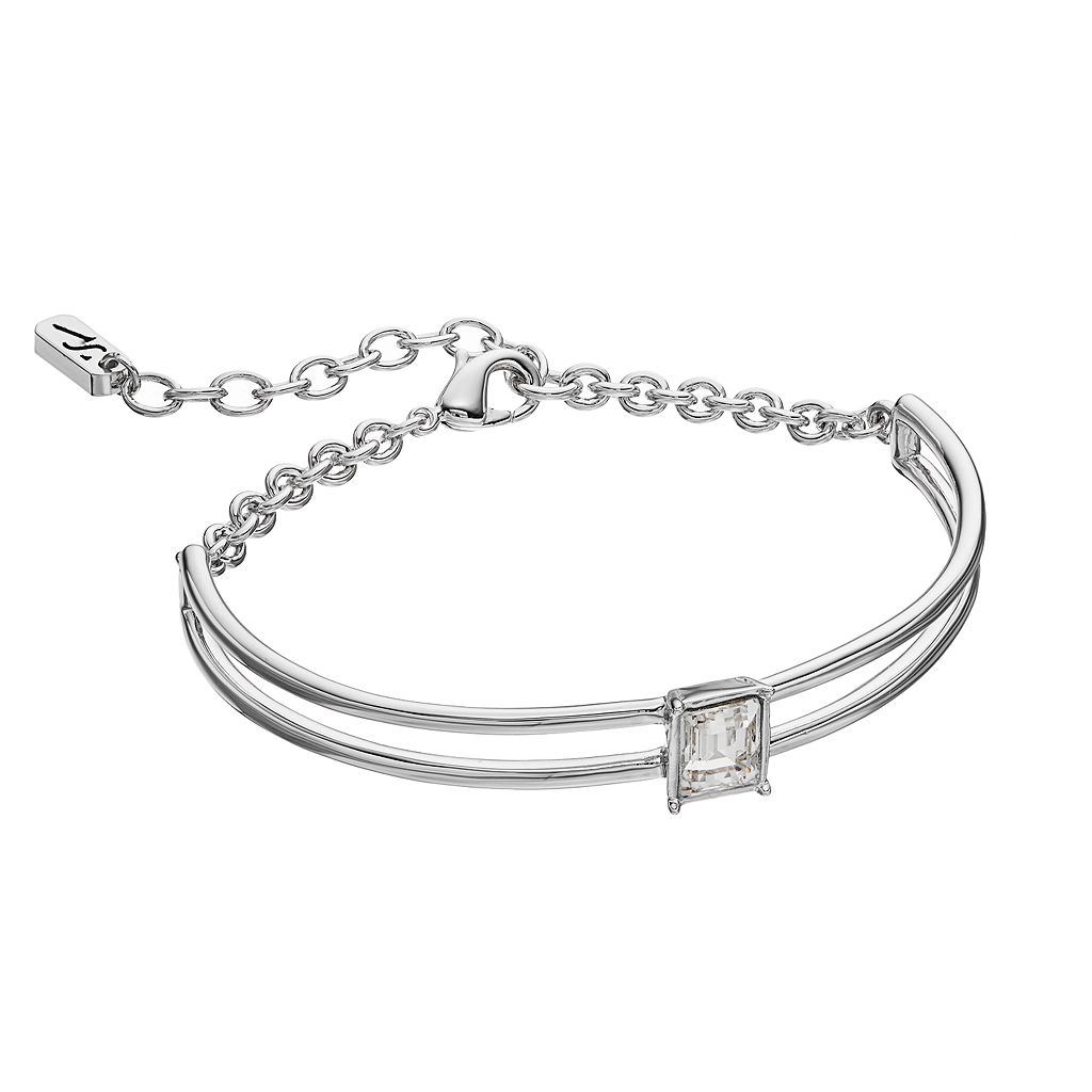 Simply Vera Vera Wang Curved Bar Bracelet with Swarovski Crystals