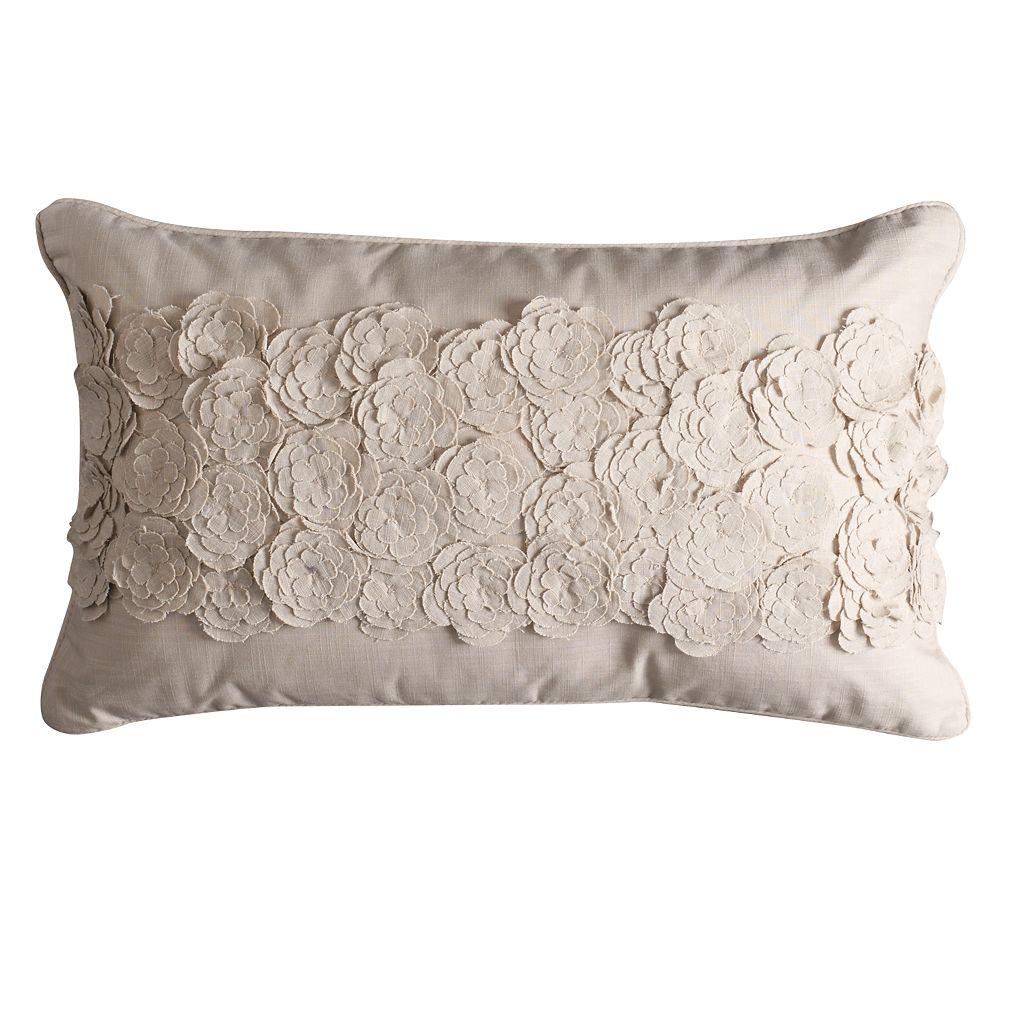 Simply Vera Vera Wang Center Floral Throw Pillow