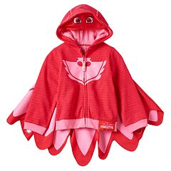 Girls 4-6x PJ Masks Owlette Fleece-Lined Zip-Up Mask Hoodie with Detachable Wings