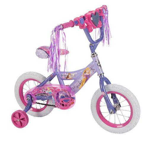 Disney Princess 12-Inch Tire Magic Mirror Bike with Training Wheels by Huffy