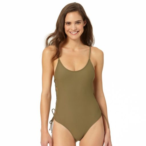 In Mocean Lace Up One-Piece Swimsuit