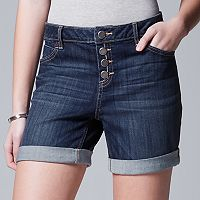 Women's Simply Vera Vera Wang Button Fly Jean Shorts
