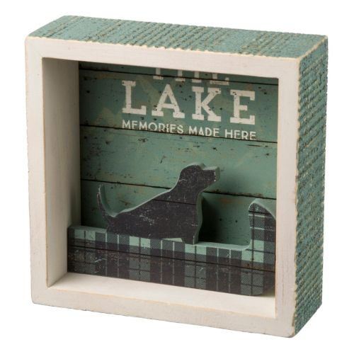 The Lake Shadowbox Table Decor