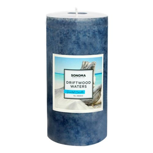 SONOMA Goods for Life™ 6 x 3 Driftwood Waters Pillar Candle