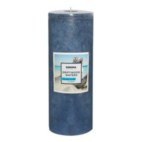 """SONOMA Goods for Life? 8"""" x 3"""" Driftwood Waters Pillar Candle"""