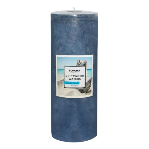 """SONOMA Goods for Life™ 8"""" x 3"""" Driftwood Waters Pillar Candle"""