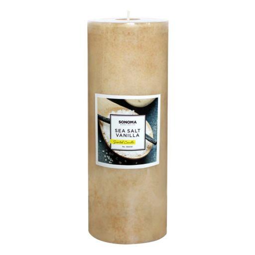 "SONOMA Goods for Life™ 8"" x 3"" Sea Salt Vanilla Pillar Candle"