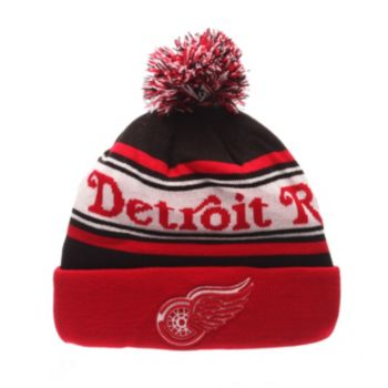 Adult Zephyr Detroit Red Wings Finish Line Beanie