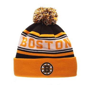 Adult Zephyr Boston Bruins Finish Line Beanie