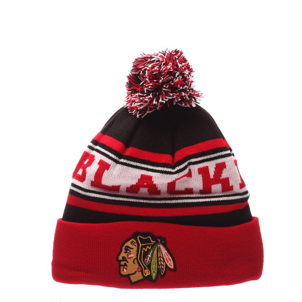 Adult Zephyr Chicago Blackhawks Finish Line Beanie