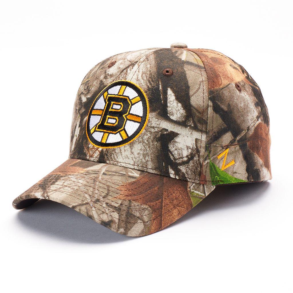 Adult Zephyr Boston Bruins Staple Camo Snapback Cap