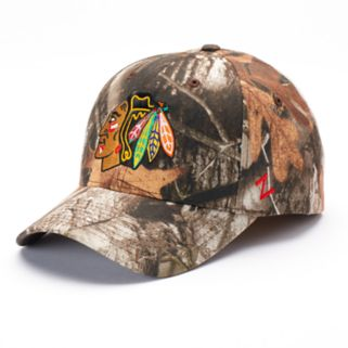 Adult Zephyr Chicago Blackhawks Staple Camo Snapback Cap