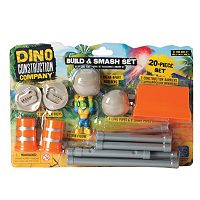 Educational Insights Dino Construction Company 20-Piece Build & Smash Set