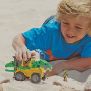 Educational Insights Dino Construction Company Snap The Velociraptor Forklift