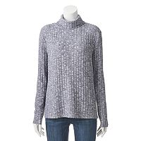 Juniors' Cloud Chaser High-Low Cowlneck Top