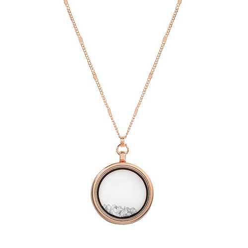 LC Lauren Conrad Long Round Shaker Pendant Necklace