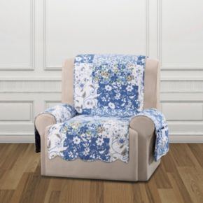 Sure Fit Heirloom Bluebell Floral Recliner Slipcover
