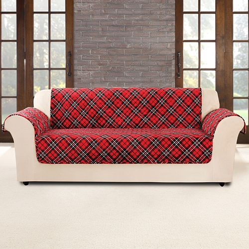 Sure Fit Flair Tartan Plaid Sofa Slipcover
