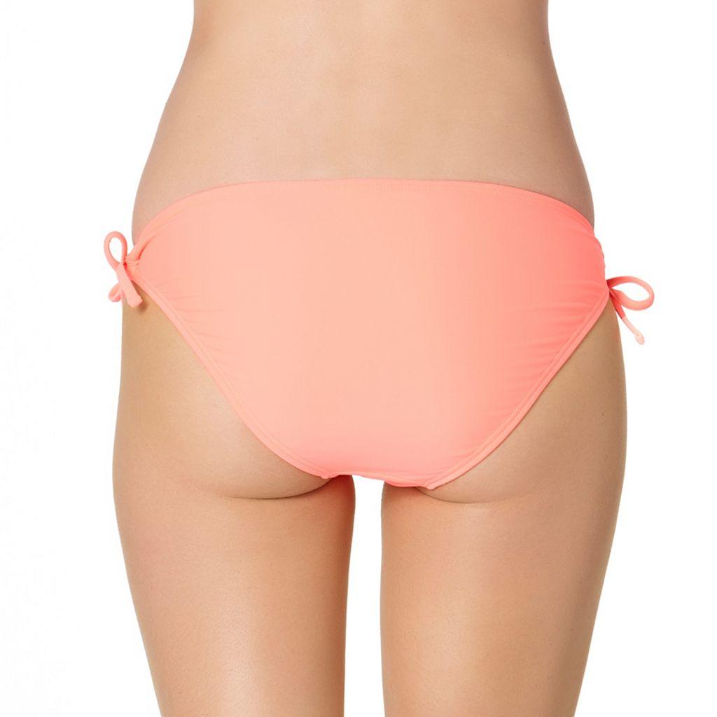 In Mocean Peach Crochet Trim Bikini Bottoms